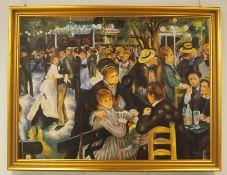 "Konrad Kujau: ""Bal du moulin de la Galette"" nach Auguste Renoir."