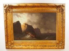 Courpaison: Schiffbruch vor Steilküste.