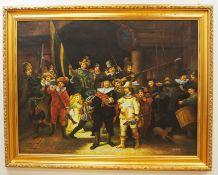 """Konrad Kujau: """"Die Nachtwache"""" nach Rembrandt van Rijn."""