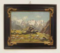 Karl Digel: Berglandschaft.