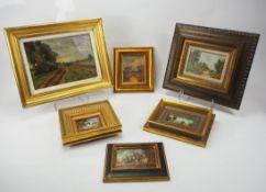 Lot: Landschaftsmalerei - Sechs Exemplare.