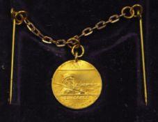 Hannover: Medaille auf das Deutsche Bundesschießen, in Gold, im Etui.