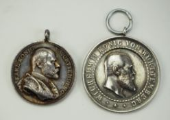 Württemberg: Lot von 2 Medaillen.