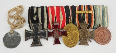 Hamburg: Ordenschnalle eines Ypern-Veteranen und Angehörigen des R.I.R. 212.