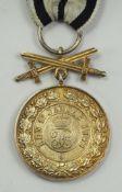Hohenzollern: Fürstlich Hohenzollernscher Hausorden, Goldene Ehrenmedaille mit