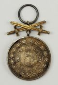 Hohenzollern: Fürstlich Hohenzollernscher Hausorden, Silberne Ehrenmedaille mit