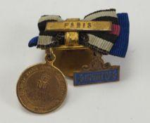 Preussen: Knopflochminiatur eines Veteranen des Deutsch-Französischen Krieges 1