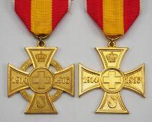 Baden: Kreuz für freiwillige Kriegshilfe - 2 Exemplare.