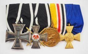 Preussen: Ordenschnalle eines Veteranen des Boxer-Aufstandes 1900/01 in China.