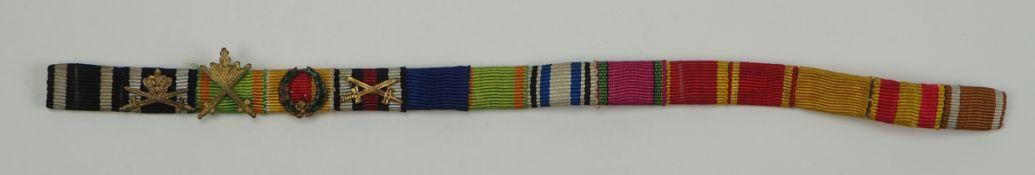 Baden: Große Feldschnalle mit 14 Auszeichnungen des Oberstleutnant Feodor Grohe, 5. Bad. Infanterie