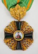 Baden: Großherzoglicher Orden vom Zähringer Löwen, Ritterkreuz 1. Klasse mit Eichenlaub.