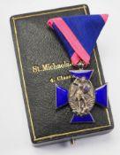 Bayern: Verdienstorden vom Heiligen Michael, 2. Modell (1887-1918), 4. Klasse (seit 1910), im Etui.