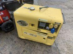 KIPOR 6 kva diesel generator. located N Ireland.
