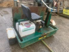 GREENS IRON 300 RIDE ON PETROL ROLLER IN TRAILER LOCATION N IRELAND