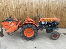 KUBOTA XB7000E COMPACT TRACTOR AND ROTOVATOR LOCATION CO DURHAM