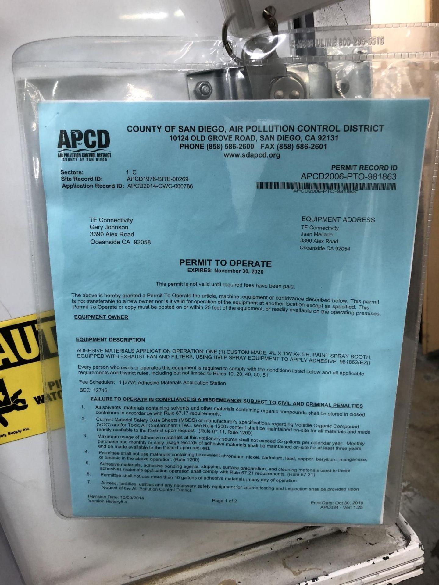 Adhesive Spray Booth (Custom Made) - Image 6 of 9