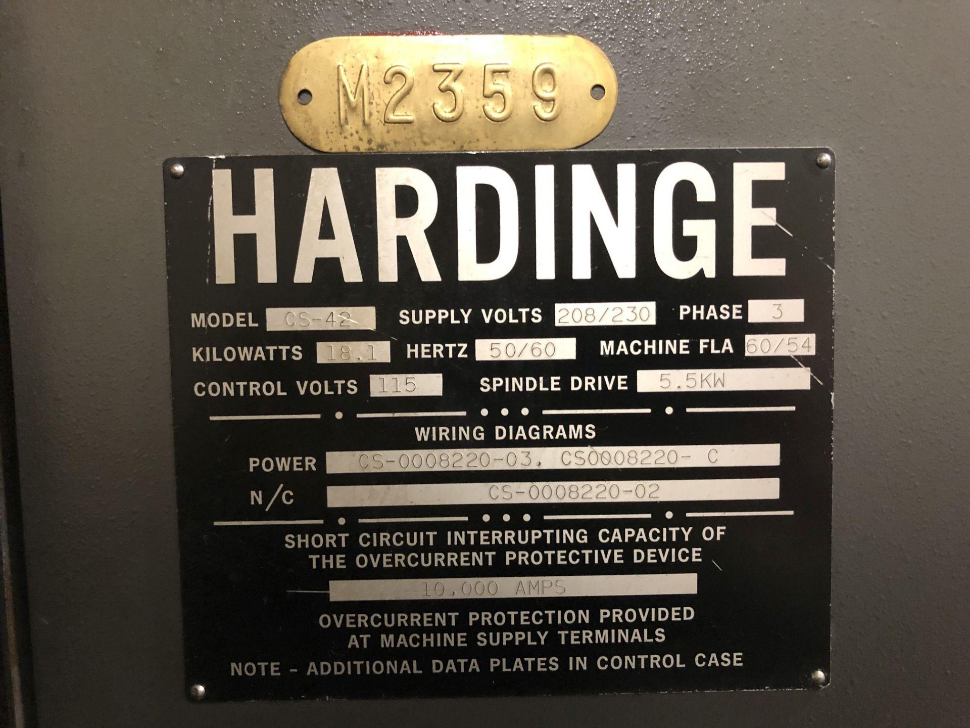Hardinge Conquest 42 CNC Lathe - Image 10 of 11