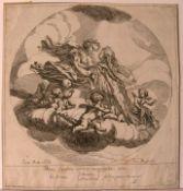 SAMUEL BOTTSCHILD (1641-1706), Kupferstich um 1680,Mytologische Szene, Blatt ca. 26 x