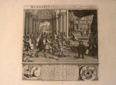 """Kupferstich, """"Het groote Tafereel der Dwaasheid"""", 18.Jhd.Blatt ca. 48 x 40 cm"""