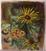 """FRANS? CLAERHOUT (1919-2006, Belgien), """"Blumen"""", Mischtechnik, u.li.sig.ca. 43 x 38 cm"""