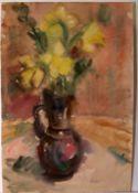 "RUDOLF ZENDER (1901-1988), ""Blumen"", Aquarell,u.re.sig., ca. 50 x 34 cm"
