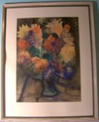 "ERNST GEITLINGER (1895-1972), ""Blumen"", Aquarellu. re. sig., Glasrahmen, Blattgröße"