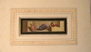 """FILIPPO DE GRADO (XVIII), """"Stilleben"""", colorierter Kupferstichum 1757-1792, unter Pass"""