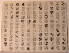Wappen- Holzschnitt, 18. Jhd., Blatt ca. 47 x 36 cm