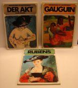 3 Kunstbücher: Der Akt im Großformat, Rubens, Gaugin
