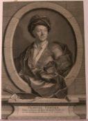 ETIENNE DESROCHERS (1668-1741), Kupferstich, 1723nach dem Gemälde von Jean Ranc, 1703