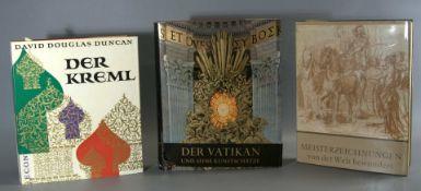 """Konvolut Bücher, 3 Stück, """"Der Kreml"""", D. Duncan, Laussane, 1960;""""Der Vatikan und se"""
