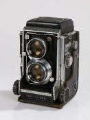 Mamiya C3 Professional TLR Camera, with Sekor f/2.8 f=80mm lenses, housed in a leather case,