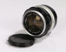 Nikon Nikkor-S camera lens, f/1.4, f=50mm, Nippon Kogaku, No. 322115