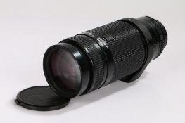 Nikon AF Nikkor camera lens, 75-300mm, f/4.5-5.6