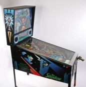 The Shadow Pinball machine, Bally circa 1994, Midway Manufacturing Company, Illinois USA, with the