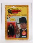 The Adventures of Indiana Jones action figure, Toht (the baddie) Kenner, carded, housed in a UK