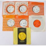 "7 x Pop / Psychedelia 7"" singles. The Brello Cabal - The Margarine Flavoured Pineapple Chunk ("