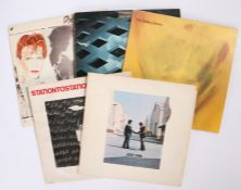 5 x Rock LPs. David Bowie (2) - Scary Monsters ( PL13647, JKAY33328 ), Portuguese pressing, with