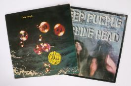 2 x Deep purple LPs. Machine Head (TPSA 7504 ), first pressing. Who Do We Think We Are ( TPSA