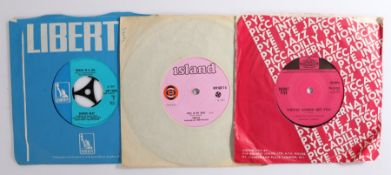 """3 x Rock 7"""" singles, Canned Heat - On The Road Again ( LBF 15090 ). Count Five - Psychotic"""