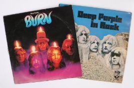2 x Deep purple LPs. In Rock ( SHVL 777 ). Burn ( TPS3505 ), second pressing.