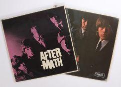 2 x Rolling Stones LPs. No. 2 ( LK 4661 ). Aftermath ( LK 4786 ).