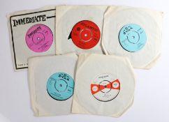 """5 x Soul 7"""" singles. P.P. Arnold - Angel Of The Morning ( IM067 ). Roy 'C' - Shotgun Wedding. ( WI"""