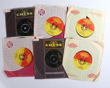 "6 x Rhythm & Blues 7"" singles. Chuck Berry (4) - Nadine ( Is It You? ) (7N25236 ). No Particular"