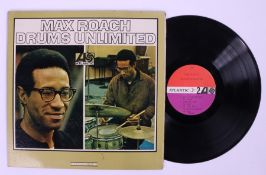 Max Roach - Drums Unlimited LP ( 1467 ) gatefold sleeve. red / maroon label, Monarch pressing.