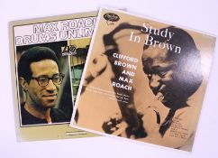 2 x Jazz LPs. Clifford Brown And Max Roach - Study In Brown ( EXPR 1008 ). Max Roach - Drums