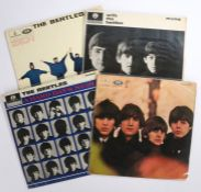 4 x Beatles LPs. With The Beatles ( PMC 1206 ). A Hard Days Night ( PMC 1230 ). Help! ( PMC