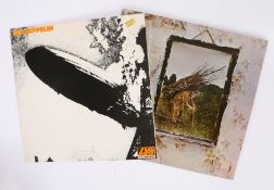 2 x Led Zeppelin LPs. Led Zeppelin ( ATL40031 ), Portuguese reissue. Untitled ( ATL50008 ), German