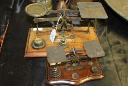 Two sets of postal scales and weights (2)