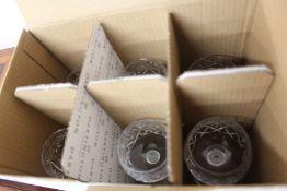 Dartington Crystal, nine cut glass wine glasses, (9)